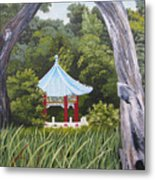 Garden By The Bay Metal Print