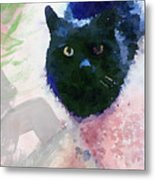 Garden Cat- Art By Linda Woods Metal Print