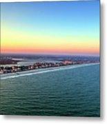 Garden City Ocean Sunset Metal Print