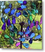 Garden Colored Fan Metal Print