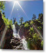 Garden Creek Falls Metal Print