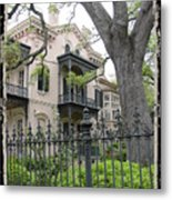 Garden District House Metal Print