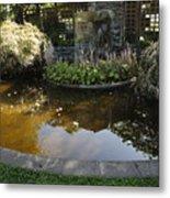 Garden Fountain Pond Metal Print