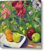 Garden Fruit And Flowers Metal Print