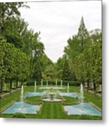 Italian Fountains Of The Garden Metal Print