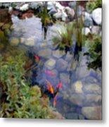 Garden Koi Pond Metal Print