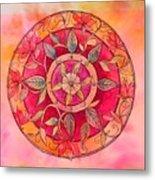 Garden Mandala Metal Print