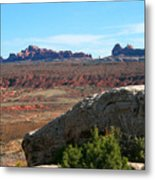 Garden Of Eden Rock Formations, Arches National Park, Moab Utah Metal Print