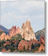 Garden Of The Gods From A Distance Metal Print