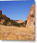 Garden Of The Gods View Metal Print