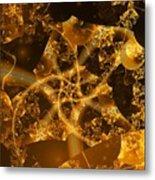 Garden Of The Golden Orbs Metal Print by Ron Bissett