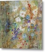 Garden Of White Flowers Metal Print