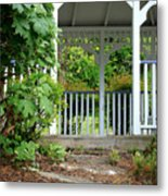 Garden Path And Gazebo Metal Print