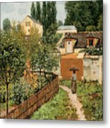 Garden Path In Louveciennes Metal Print