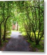 Garden Path In Spring Metal Print