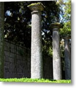 Garden Pillars Metal Print
