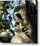 Garden Sculpture Metal Print