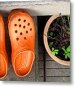 Garden Shoes Metal Print