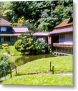 Garden Tea Houses Metal Print