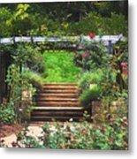 Garden Trellis Metal Print