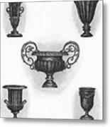 Garden Urns Metal Print