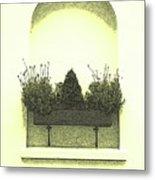 Garden Wall Box Metal Print