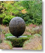 Garden Water Feature Metal Print
