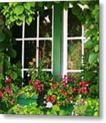 Garden Window Metal Print