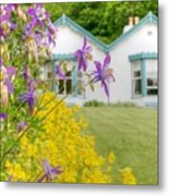 Gardener's Cottage At The Walled Victorian Gardens Of Kylemore Metal Print