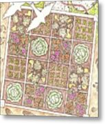 Gardening By The Foot Metal Print