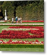 Gardens Of The Schloss  Schonbrunn  Vienna Austria Metal Print
