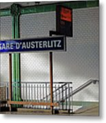 Gare D'austerlitz In Paris, France Metal Print
