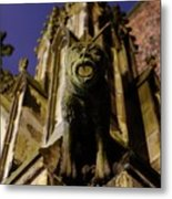 Gargoyle At The Dom Church In Utrecht In The Evening 188 Metal Print