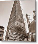 Garisenda Tower In Bologna Metal Print