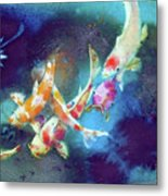 Garland Of Koi Fishes Metal Print