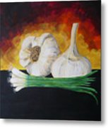 Garlic And Onion Metal Print