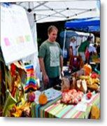 Garlic Festival Vendors Metal Print