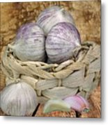 Garlic In The Basket Metal Print