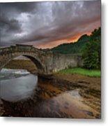 Garron Bridge Sunset Metal Print