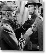 Gary Cooper Getting A Medal Of Honor As Sergeant York 1941 Metal Print