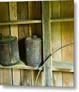 Gas Cans Long Forgotten Metal Print