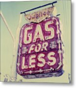 Gas For Less Metal Print