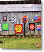Gas From The Past Metal Print