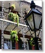 Gas Lamp And Balcony Metal Print