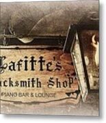 Gas Light At Lafitte's Blacksmith Shop Metal Print