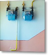 Gas Meters Metal Print by Gabriela Insuratelu