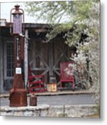 Gas Pump Metal Print
