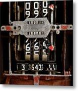 Gas Pump Meter Metal Print