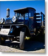 Gas Stop Of Old Metal Print