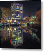 Gas Street Basin At Night Metal Print